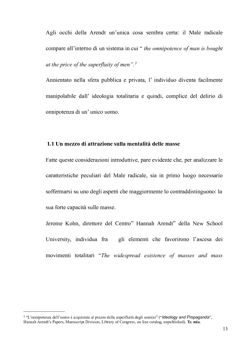 Anteprima della tesi: Il volto banale del Male: Arendt/Eichmann, Pagina 10