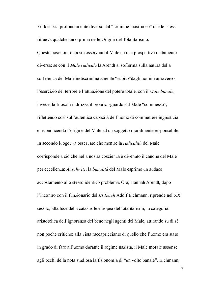 Anteprima della tesi: Il volto banale del Male: Arendt/Eichmann, Pagina 4