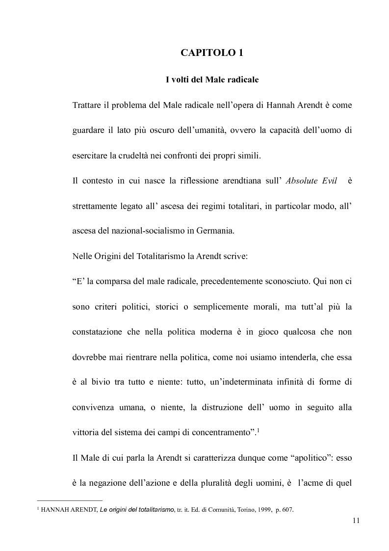 Anteprima della tesi: Il volto banale del Male: Arendt/Eichmann, Pagina 8