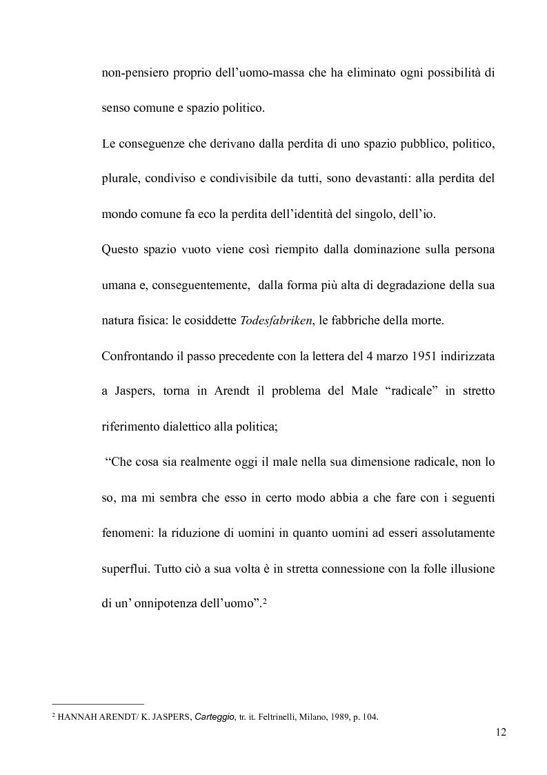 Anteprima della tesi: Il volto banale del Male: Arendt/Eichmann, Pagina 9