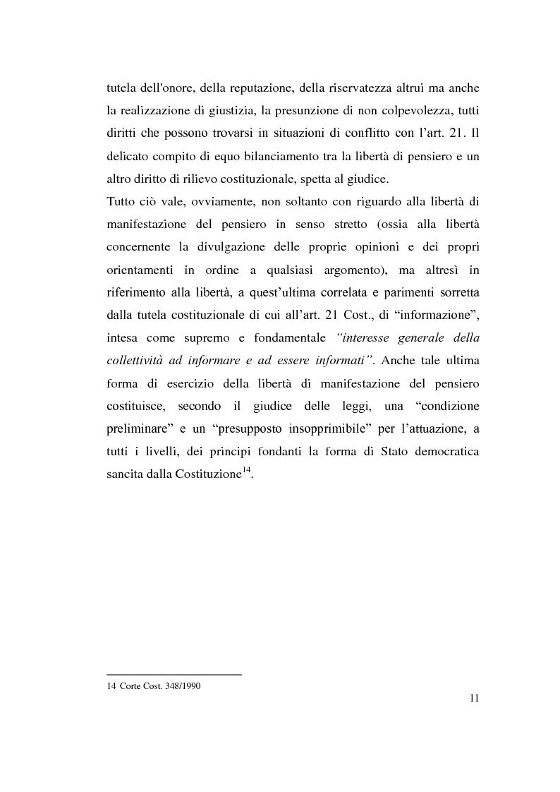 Anteprima della tesi: La diffamazione attraverso i media, Pagina 11