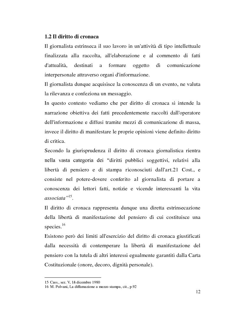 Anteprima della tesi: La diffamazione attraverso i media, Pagina 12