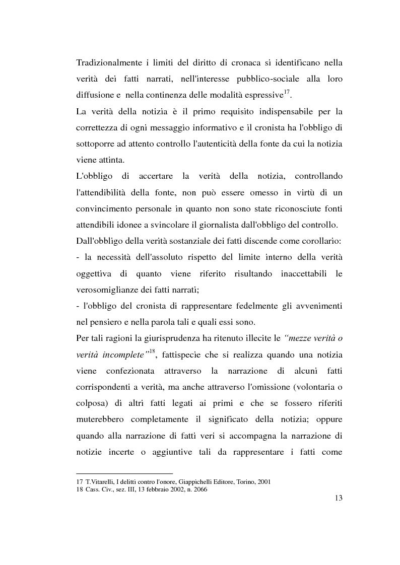 Anteprima della tesi: La diffamazione attraverso i media, Pagina 13