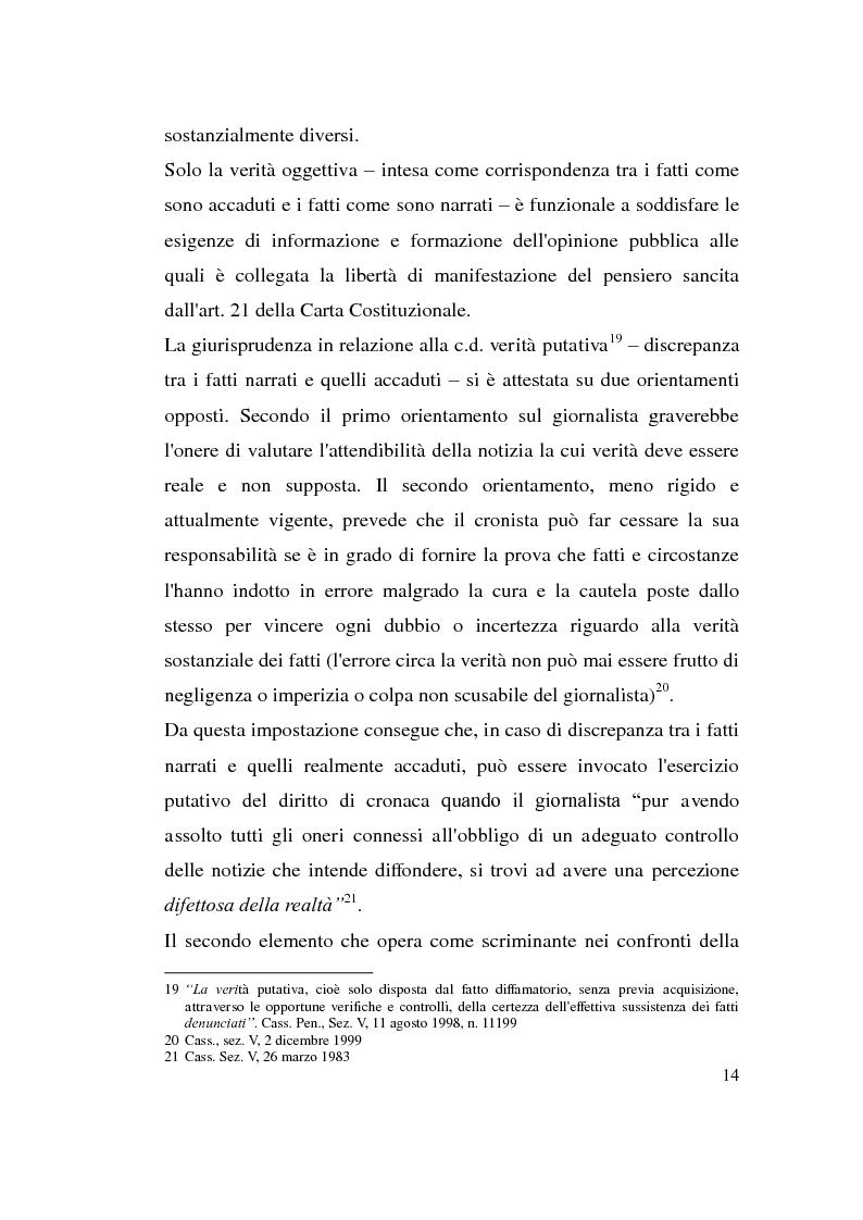 Anteprima della tesi: La diffamazione attraverso i media, Pagina 14