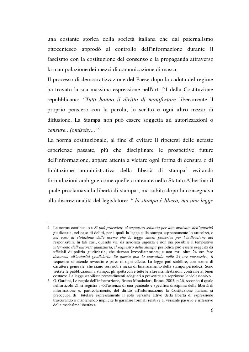 Anteprima della tesi: La diffamazione attraverso i media, Pagina 6
