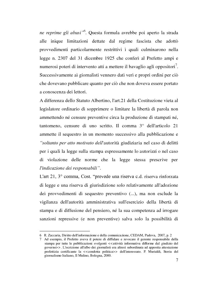 Anteprima della tesi: La diffamazione attraverso i media, Pagina 7
