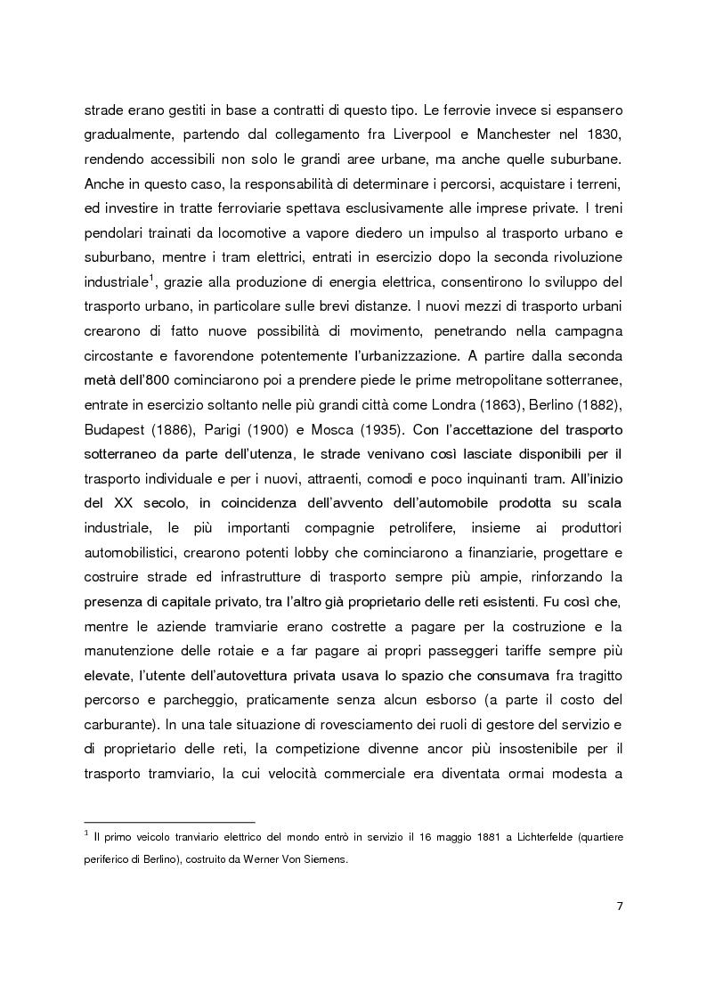 Anteprima della tesi: Sistemi di governance e modelli di integrazione tariffaria nel trasporto pubblico locale, Pagina 3