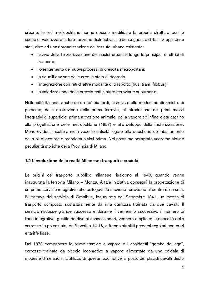 Anteprima della tesi: Sistemi di governance e modelli di integrazione tariffaria nel trasporto pubblico locale, Pagina 5