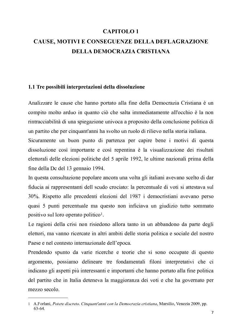 Anteprima della tesi: La diaspora democristiana dopo la fine della prima repubblica, Pagina 3