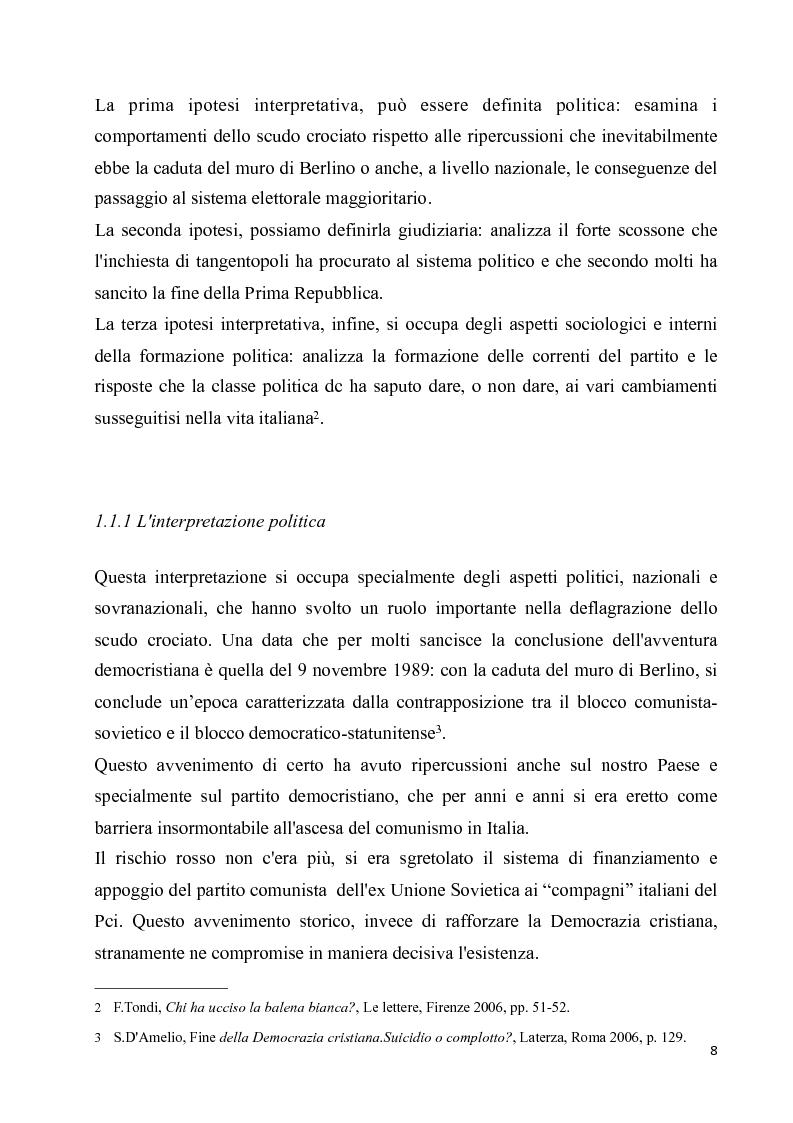 Anteprima della tesi: La diaspora democristiana dopo la fine della prima repubblica, Pagina 4