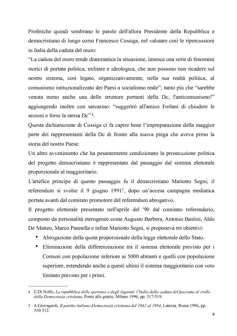 Anteprima della tesi: La diaspora democristiana dopo la fine della prima repubblica, Pagina 5