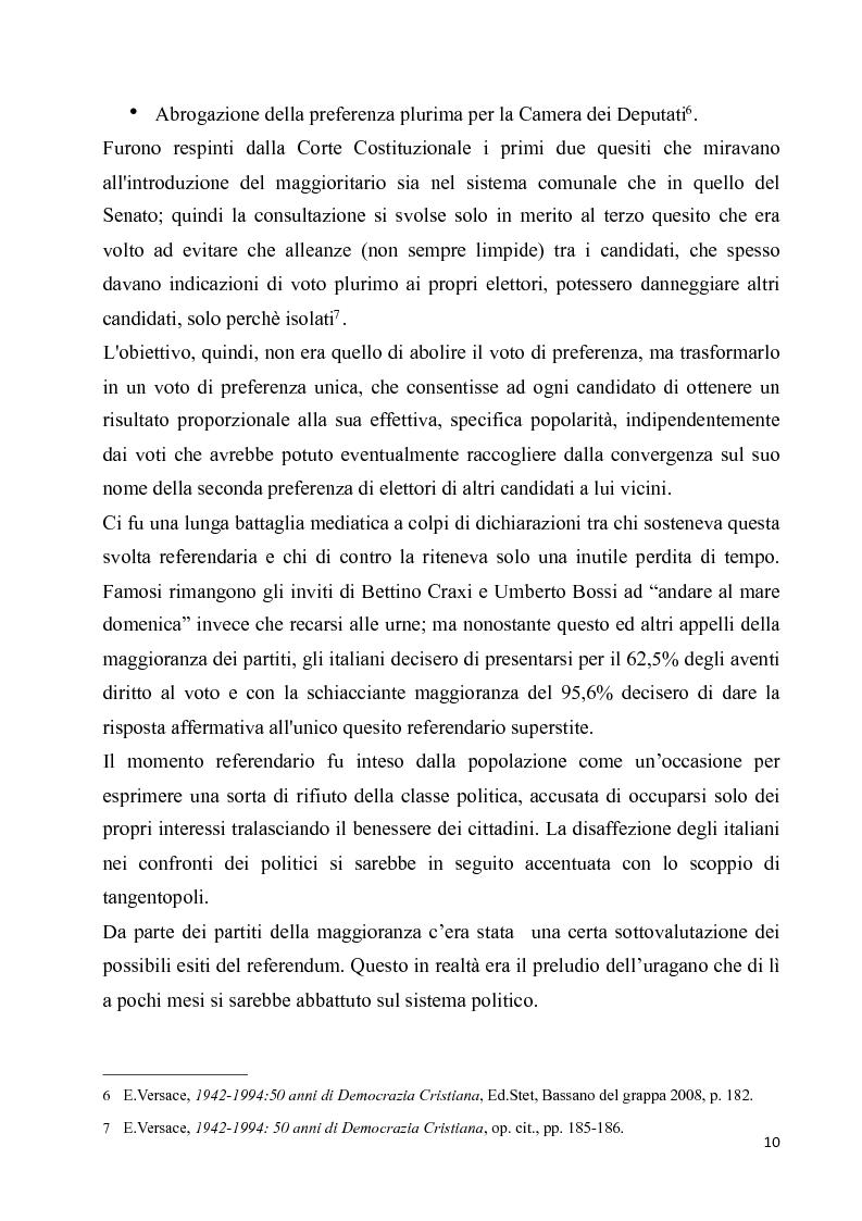 Anteprima della tesi: La diaspora democristiana dopo la fine della prima repubblica, Pagina 6