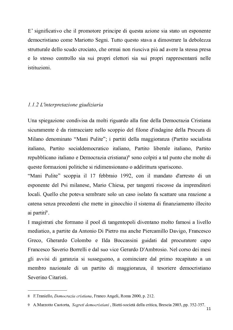 Anteprima della tesi: La diaspora democristiana dopo la fine della prima repubblica, Pagina 7