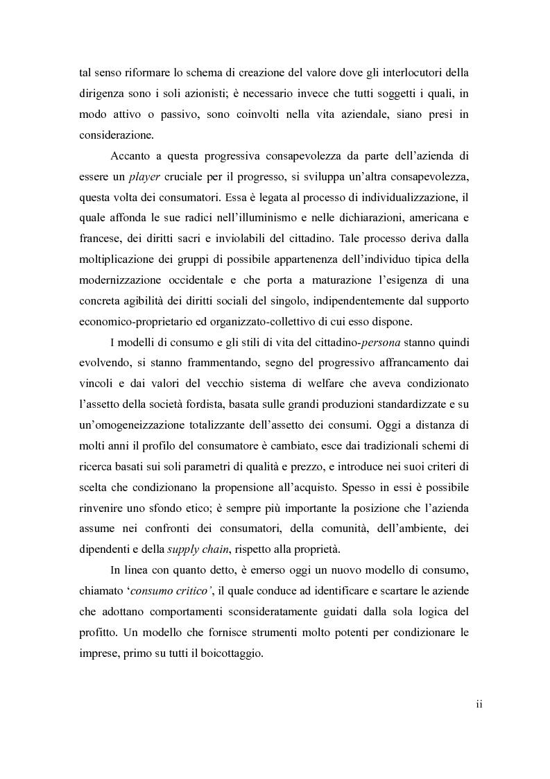 Anteprima della tesi: Il cause-related marketing e la responsabilità sociale delle imprese, Pagina 2