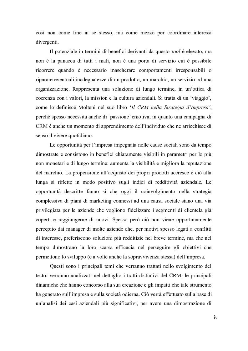 Anteprima della tesi: Il cause-related marketing e la responsabilità sociale delle imprese, Pagina 4