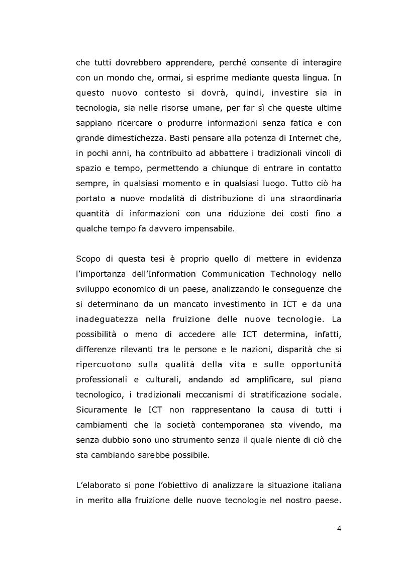 Anteprima della tesi: Le conseguenze economiche delle nuove tecnologie di comunicazione, Pagina 2