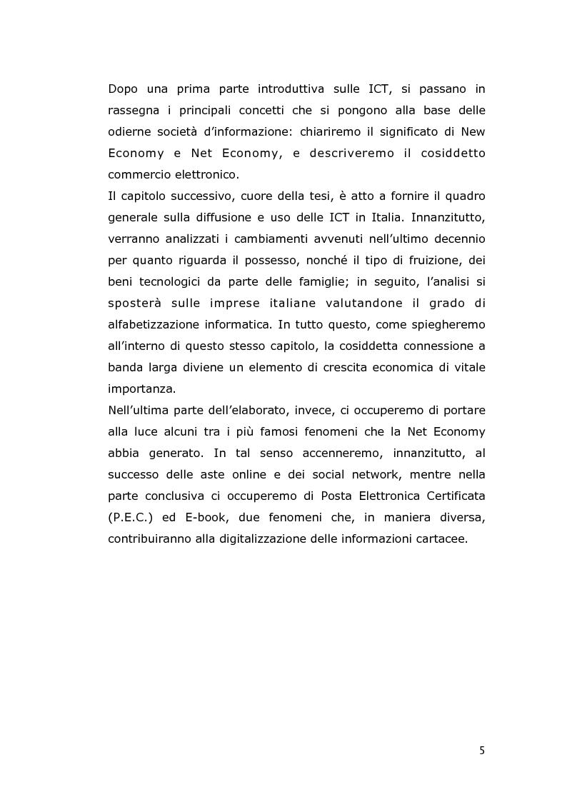 Anteprima della tesi: Le conseguenze economiche delle nuove tecnologie di comunicazione, Pagina 3