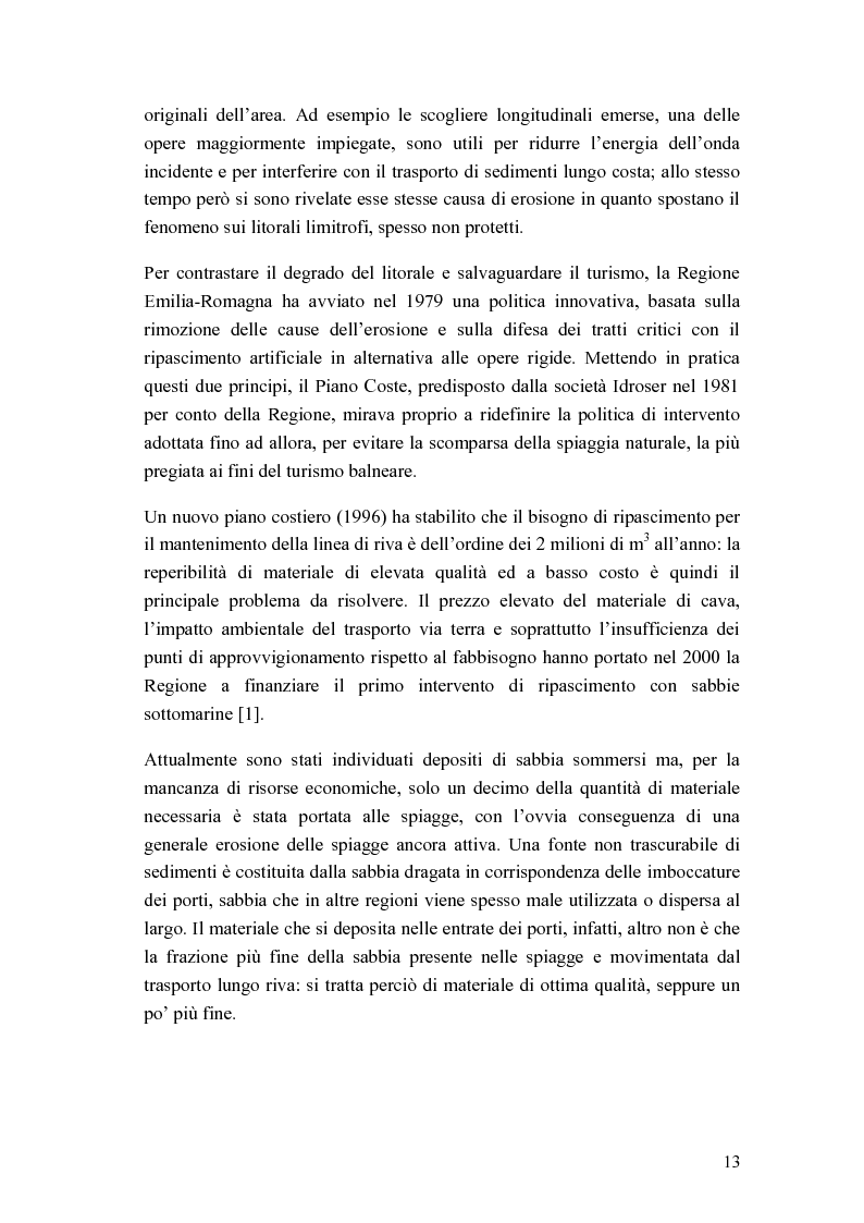 Anteprima della tesi: Cantiere per l'esecuzione di un ripascimento con temporaneo deposito in mare: analisi della dispersione dei sedimenti, Pagina 5