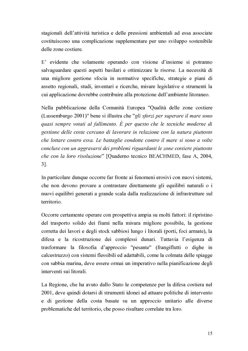 Anteprima della tesi: Cantiere per l'esecuzione di un ripascimento con temporaneo deposito in mare: analisi della dispersione dei sedimenti, Pagina 7