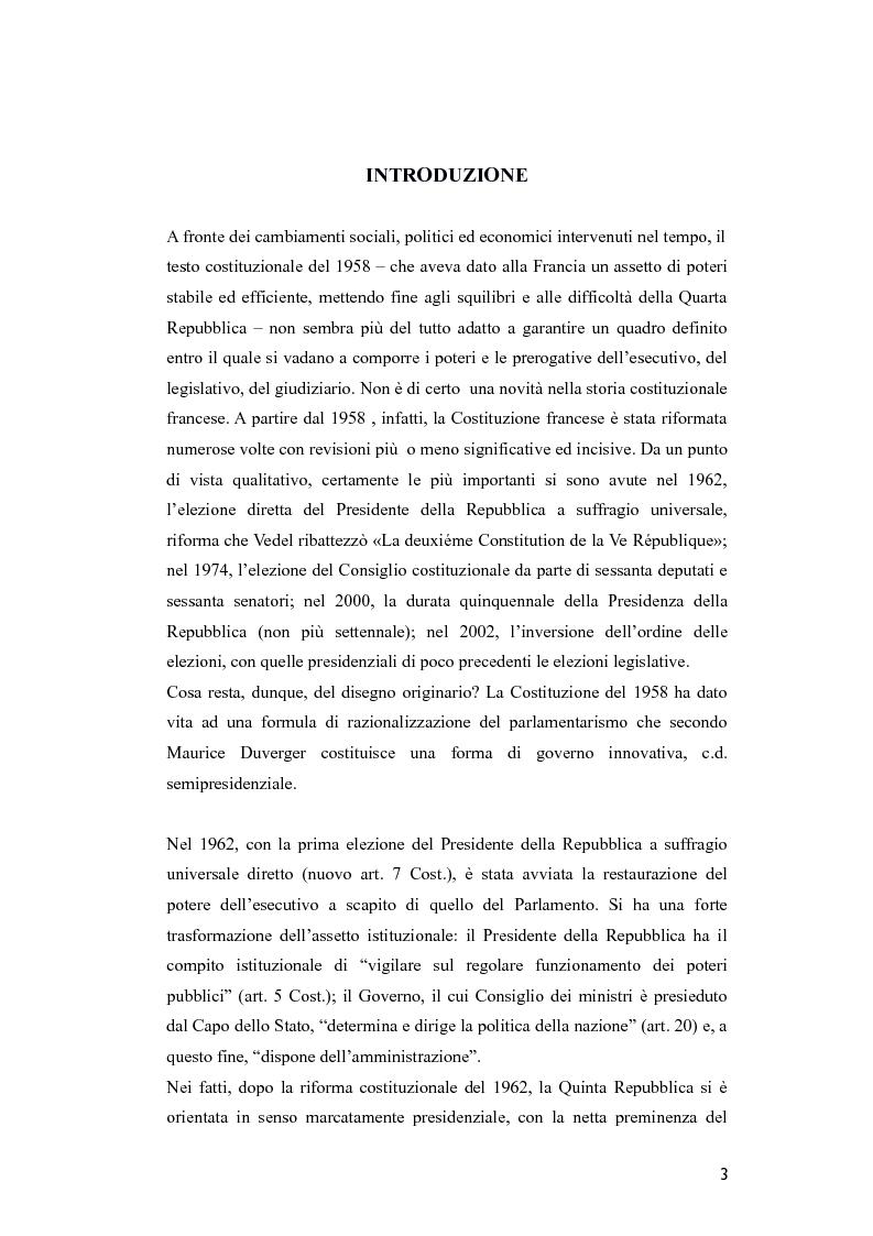 Il parlamento nella riforma costituzionale francese del for Diretta dal parlamento