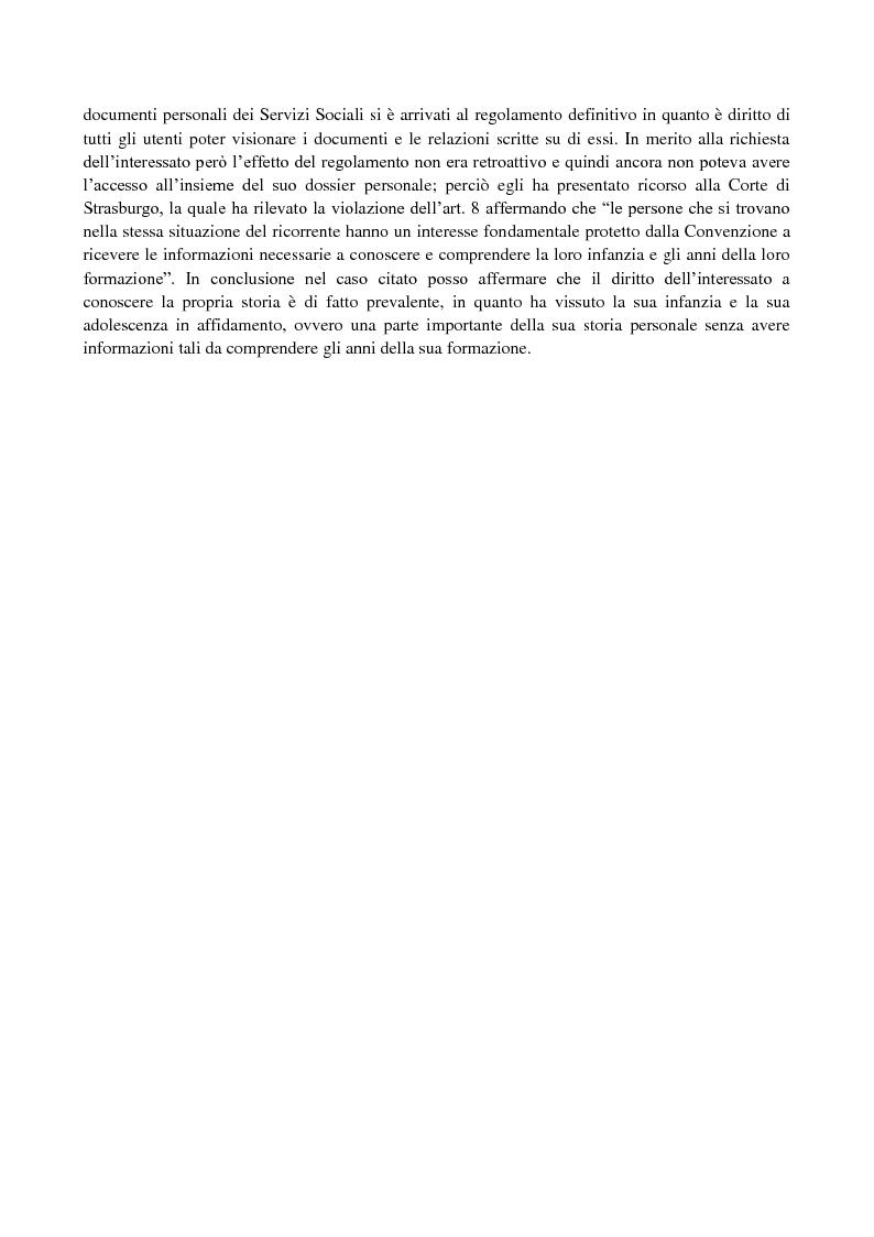 Anteprima della tesi: Affidamento extrafamiliare e segreti: quali diritti e quali doveri per i soggetti coinvolti?, Pagina 2