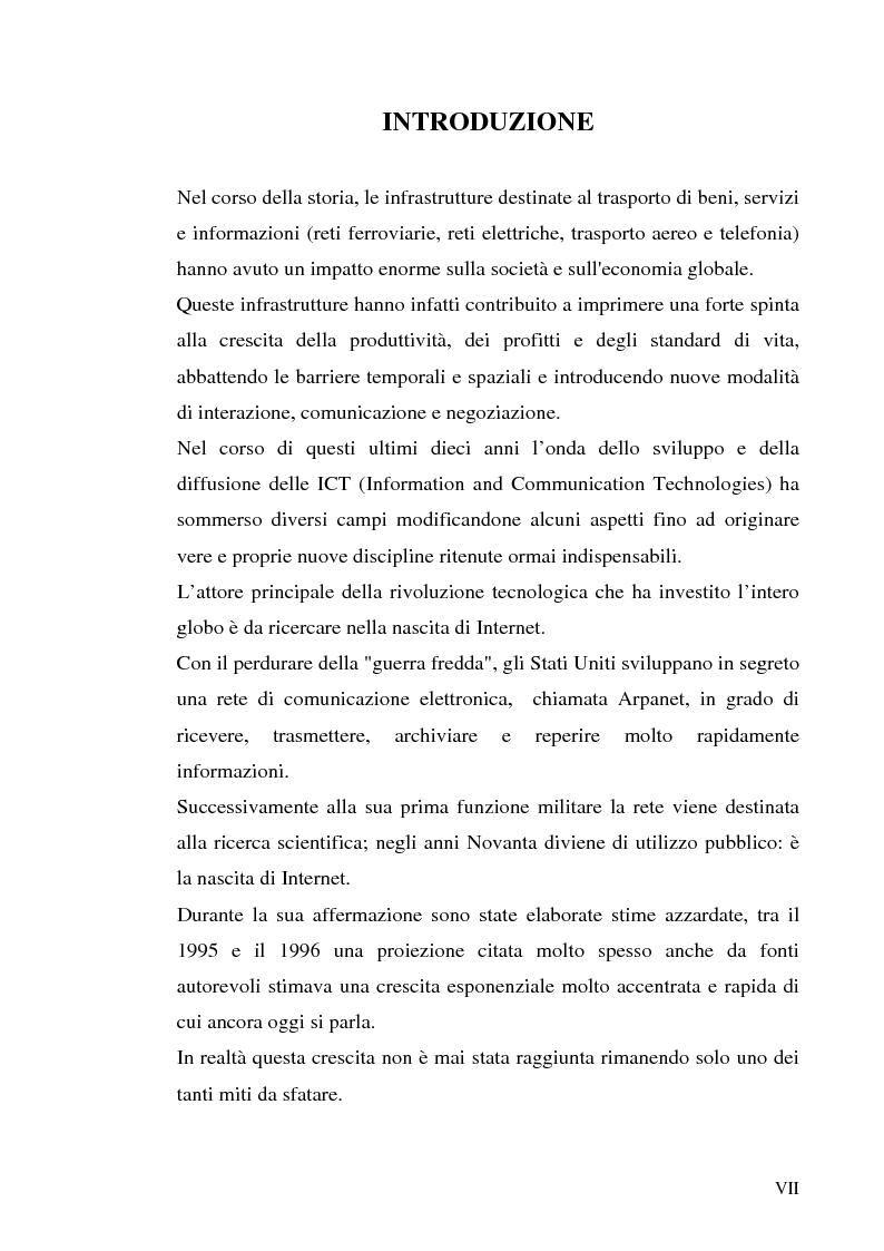 Anteprima della tesi: Previsioni e dinamiche reali dell'e-commerce, Pagina 1