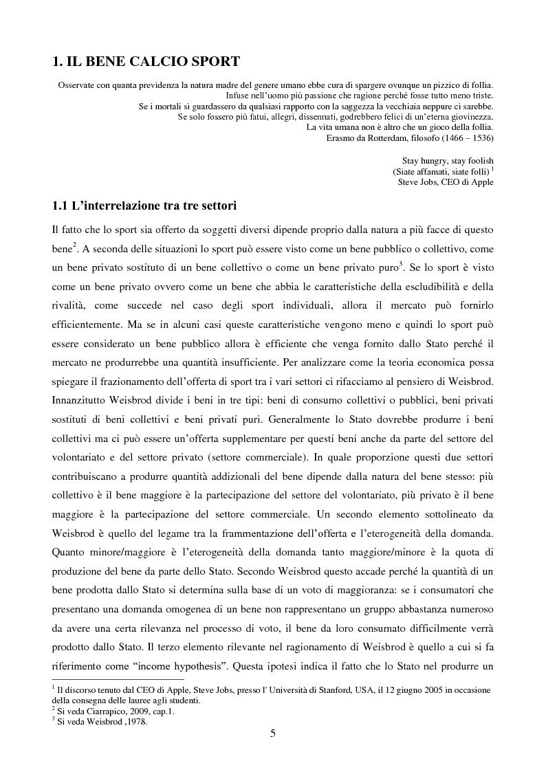 Anteprima della tesi: Organizzazione aziendale delle società sportive, Pagina 3