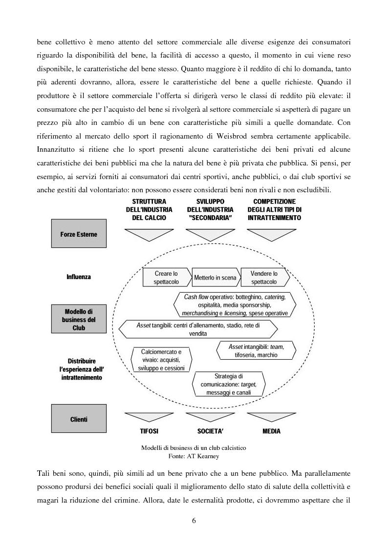 Anteprima della tesi: Organizzazione aziendale delle società sportive, Pagina 4