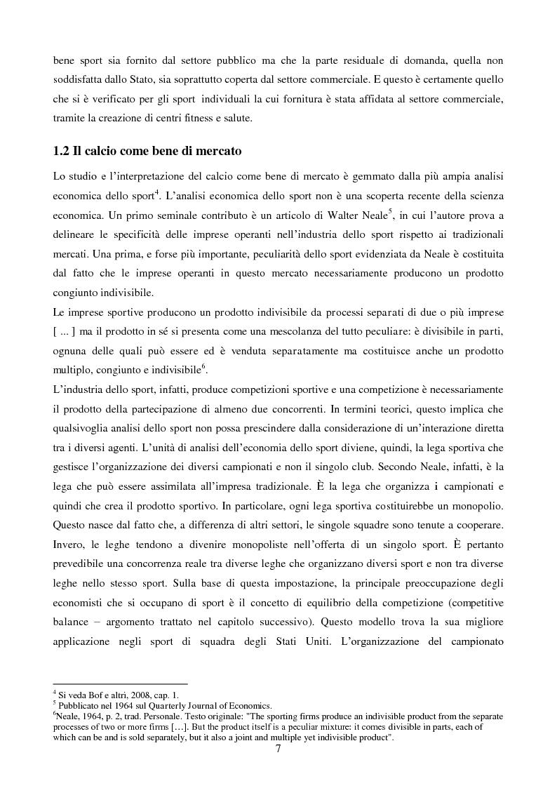 Anteprima della tesi: Organizzazione aziendale delle società sportive, Pagina 5
