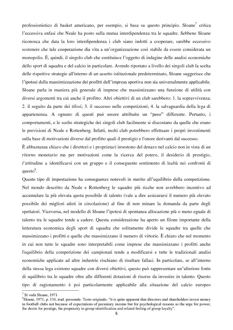 Anteprima della tesi: Organizzazione aziendale delle società sportive, Pagina 6