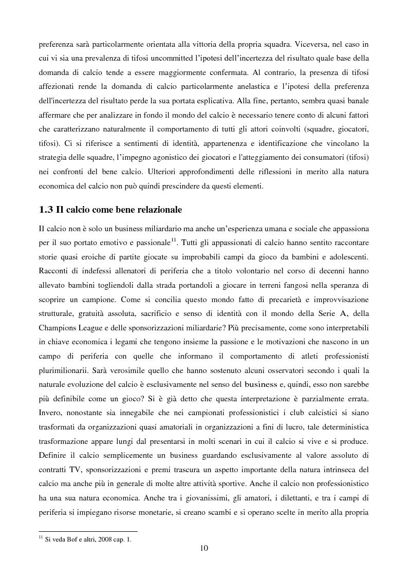 Anteprima della tesi: Organizzazione aziendale delle società sportive, Pagina 8