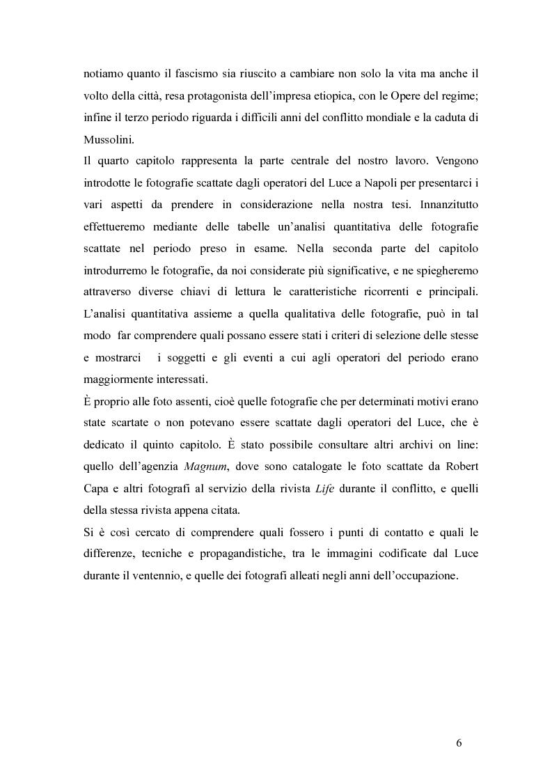 Anteprima della tesi: Il fascismo a Napoli nelle fotografie dell'Istituto Luce, Pagina 2