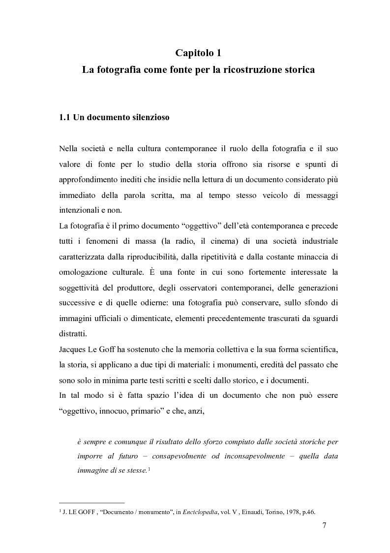 Anteprima della tesi: Il fascismo a Napoli nelle fotografie dell'Istituto Luce, Pagina 3