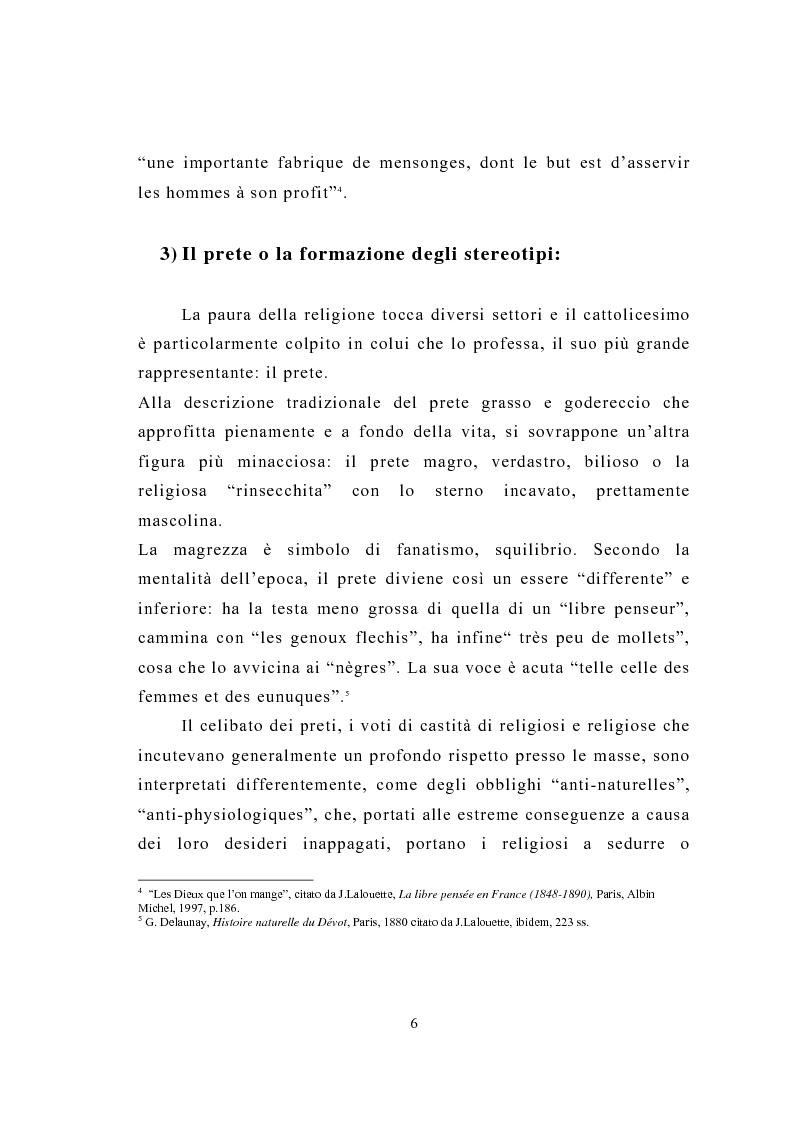 Anteprima della tesi: La figura del religioso nelle opere di Emile Zola, Pagina 10