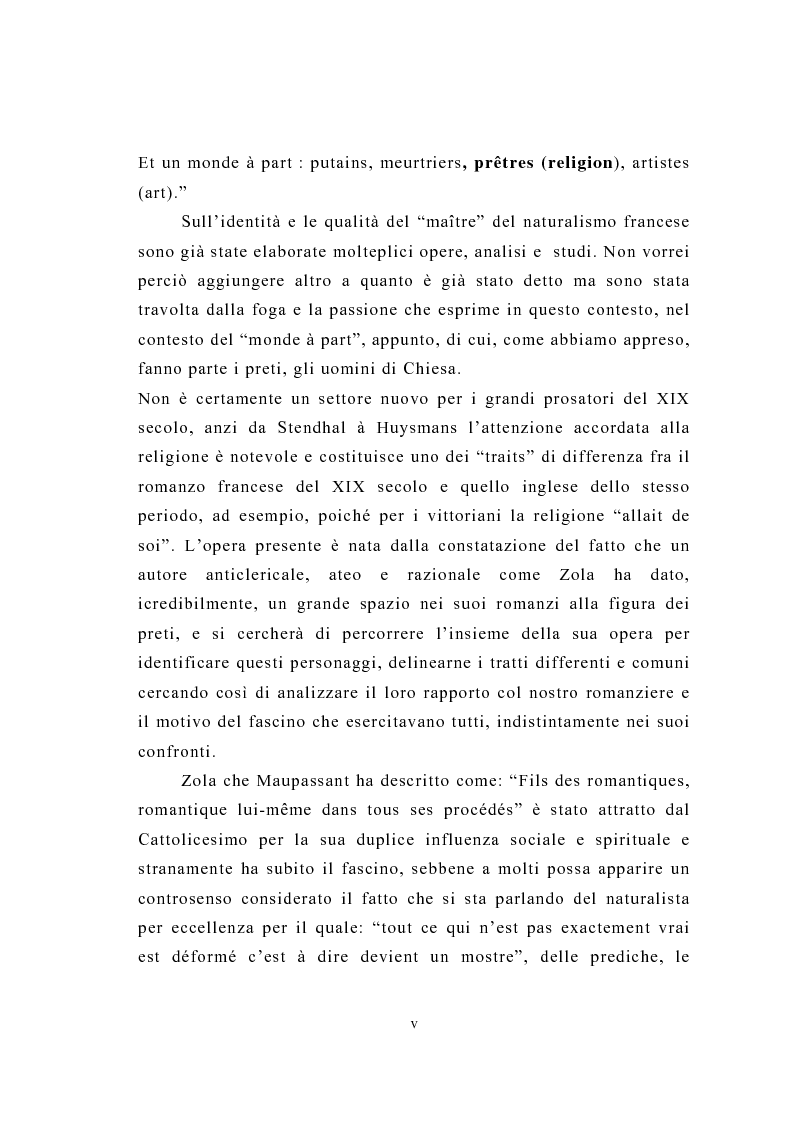 Anteprima della tesi: La figura del religioso nelle opere di Emile Zola, Pagina 2