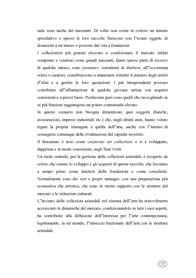 Anteprima della tesi: Dalla filantropia all'art banking: come l'arte contemporanea diventa immateriale, Pagina 11