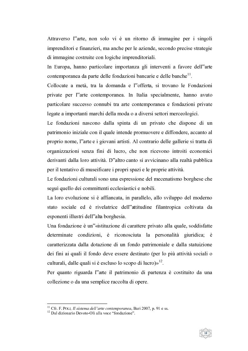 Anteprima della tesi: Dalla filantropia all'art banking: come l'arte contemporanea diventa immateriale, Pagina 12