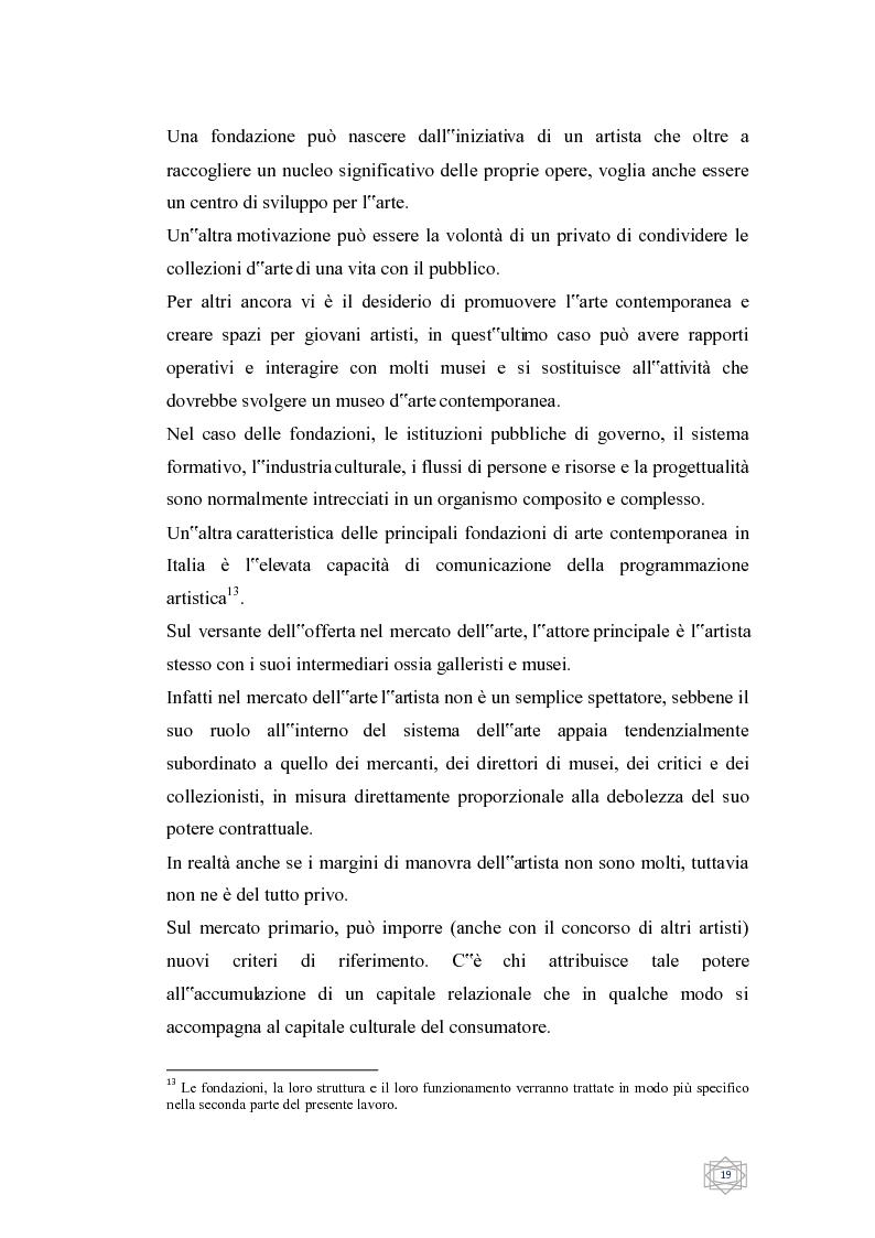 Anteprima della tesi: Dalla filantropia all'art banking: come l'arte contemporanea diventa immateriale, Pagina 13