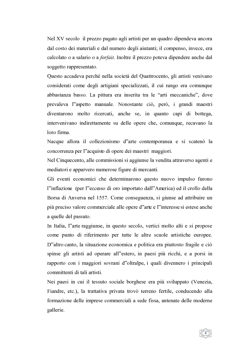 Anteprima della tesi: Dalla filantropia all'art banking: come l'arte contemporanea diventa immateriale, Pagina 2
