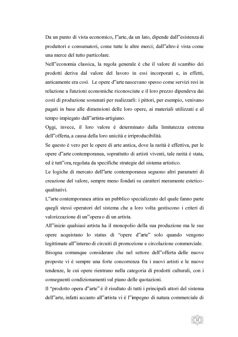 Anteprima della tesi: Dalla filantropia all'art banking: come l'arte contemporanea diventa immateriale, Pagina 6