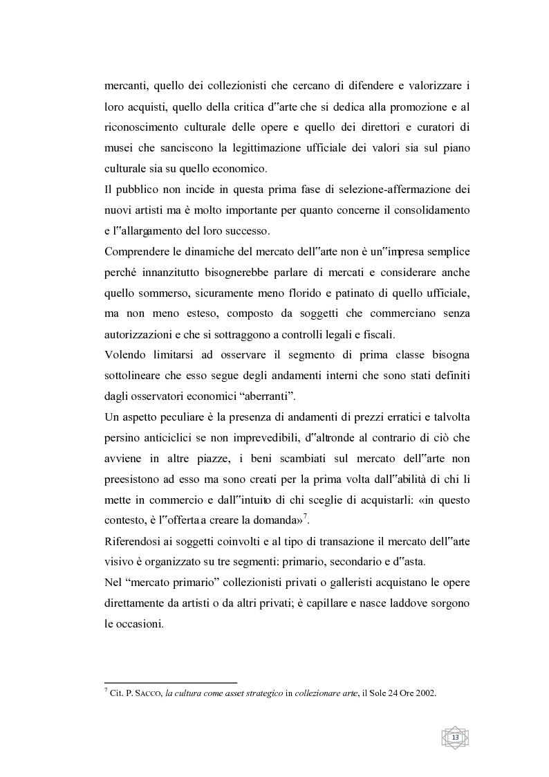 Anteprima della tesi: Dalla filantropia all'art banking: come l'arte contemporanea diventa immateriale, Pagina 7