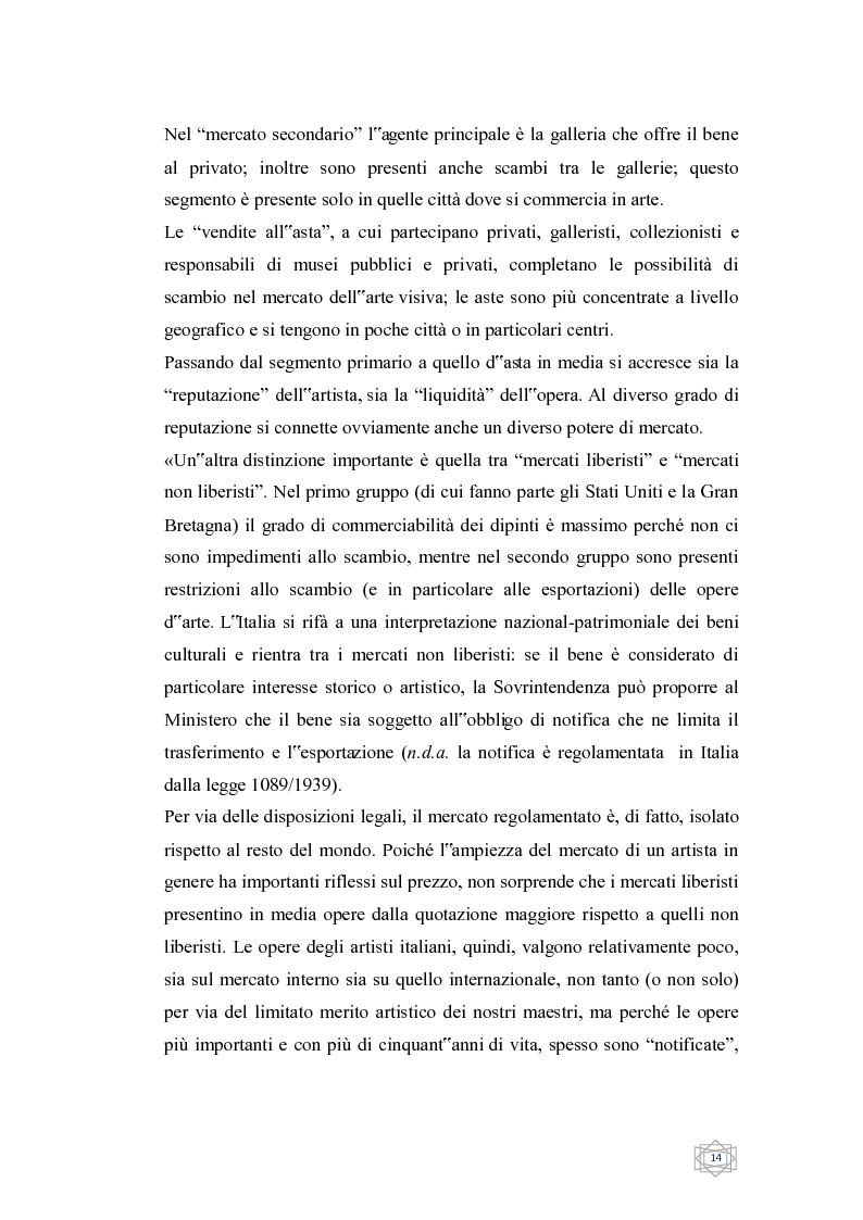 Anteprima della tesi: Dalla filantropia all'art banking: come l'arte contemporanea diventa immateriale, Pagina 8