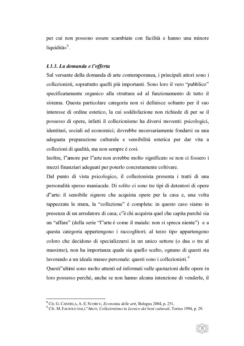 Anteprima della tesi: Dalla filantropia all'art banking: come l'arte contemporanea diventa immateriale, Pagina 9