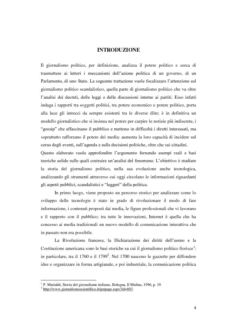 Anteprima della tesi: Il giornalismo politico scandalistico e la sua deriva in Dagospia, Pagina 1