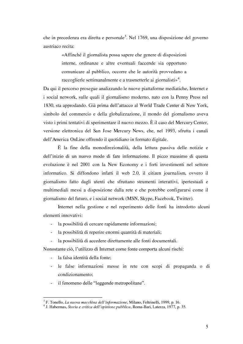 Anteprima della tesi: Il giornalismo politico scandalistico e la sua deriva in Dagospia, Pagina 2