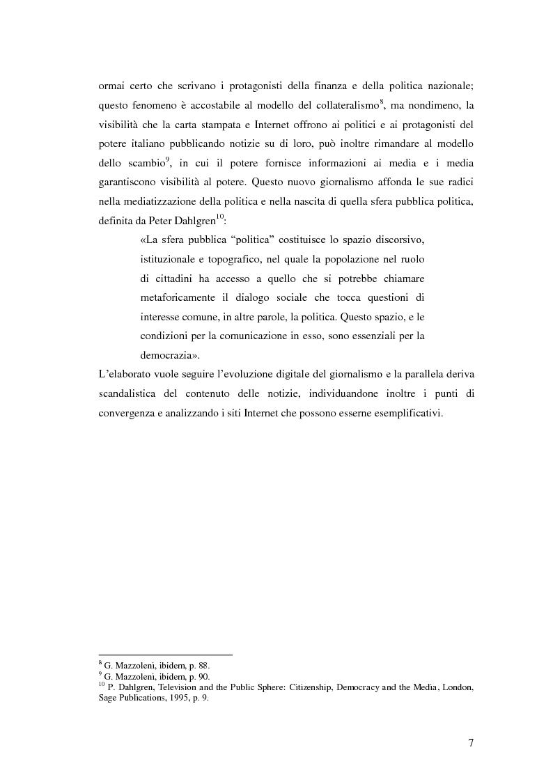 Anteprima della tesi: Il giornalismo politico scandalistico e la sua deriva in Dagospia, Pagina 4