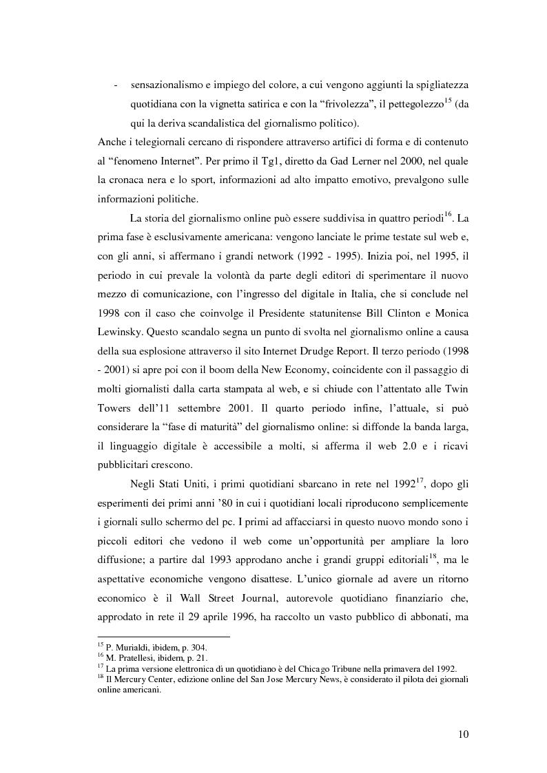 Anteprima della tesi: Il giornalismo politico scandalistico e la sua deriva in Dagospia, Pagina 7