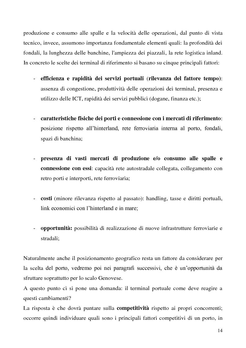 Anteprima della tesi: Il problema del vantaggio competitivo nei terminal portuali, Pagina 10