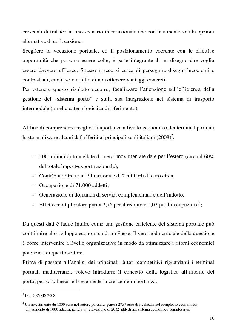 Anteprima della tesi: Il problema del vantaggio competitivo nei terminal portuali, Pagina 6
