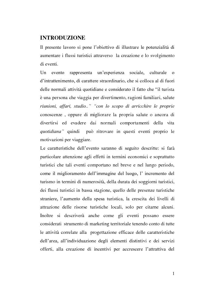 Anteprima della tesi: Gli eventi e i flussi turistici: il progetto Venezia 2020, Pagina 1